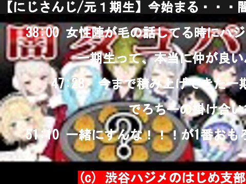 【にじさんじ/元1期生】今始まる・・・闇タコ焼きパーティー!!!【クリスマスコラボ】  (c) 渋谷ハジメのはじめ支部