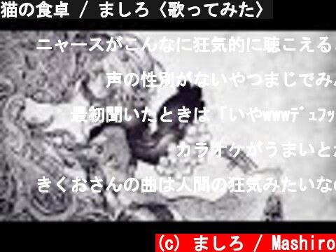 猫の食卓 / ましろ〈歌ってみた〉  (c) ましろ / Mashiro