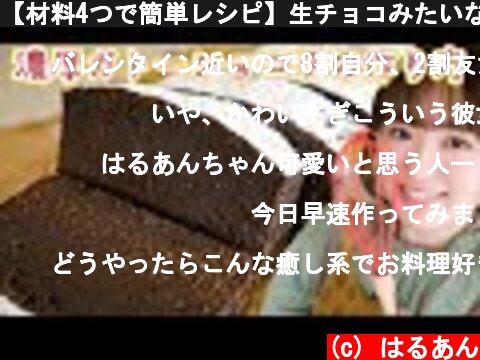 【材料4つで簡単レシピ】生チョコみたいな濃厚ガトーショコラの作り方!【バレンタイン】  (c) はるあん