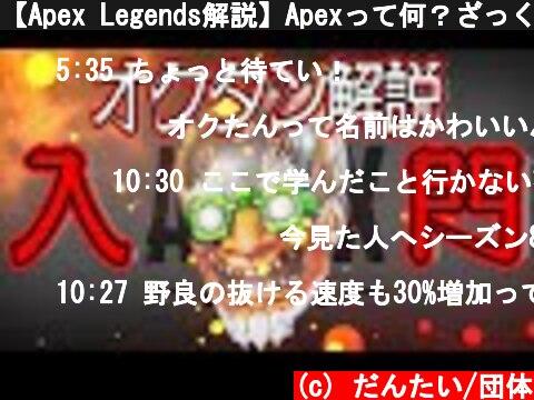 【Apex Legends解説】Apexって何?ざっくりキャラ紹介オクタン編⑱  (c) だんたい/団体