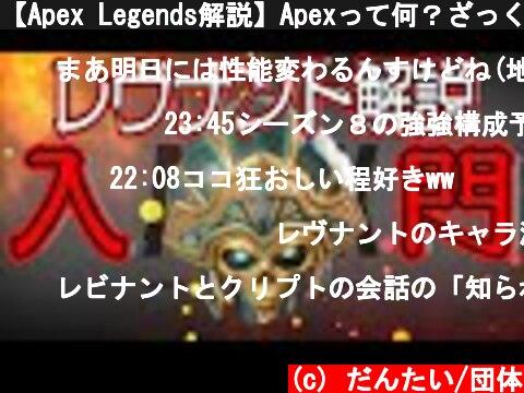 【Apex Legends解説】Apexって何?ざっくりキャラ紹介レヴナント編⑲  (c) だんたい/団体