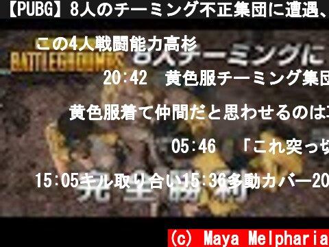 【PUBG】8人のチーミング不正集団に遭遇、そして完勝【放送録画】  (c) Maya Melpharia
