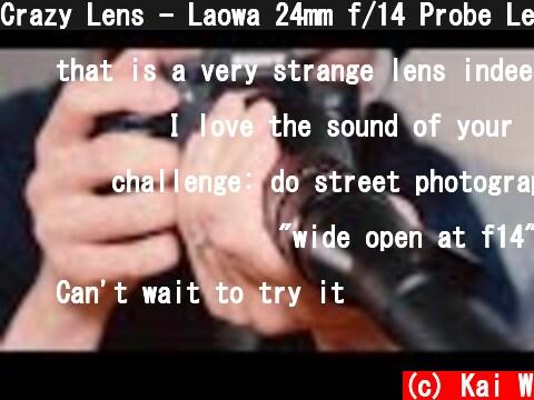 Crazy Lens - Laowa 24mm f/14 Probe Lens  (c) Kai W