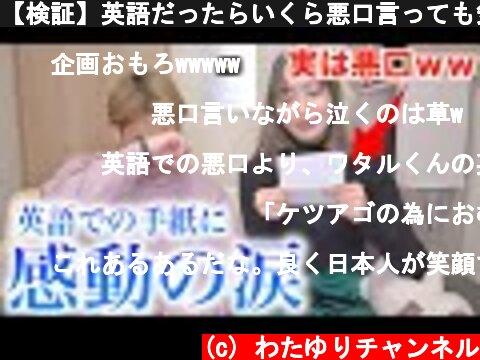 【検証】英語だったらいくら悪口言っても気づかれない説wwww  (c) わたゆりチャンネル