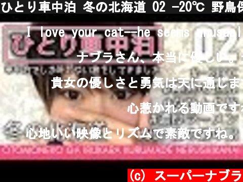 ひとり車中泊 冬の北海道 02 −20℃ 野鳥保護【4K】女ひとり旅 supernabura Traveling in a single car overnight in Japan Hokkaido  (c) スーパーナブラ