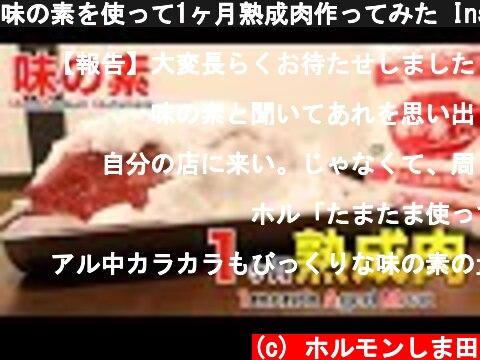 味の素を使って1ヶ月熟成肉作ってみた Insane UMAMI Dry Age Experiment!!  (c) ホルモンしま田