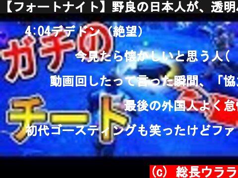 【フォートナイト】野良の日本人が、透明バグチート使いだしたから注意したよ~~( `ー´)ノ  (c) 総長ウララ