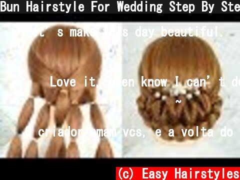 Bun Hairstyle For Wedding Step By Step - Beautiful Hairstyle | Prom Hairstyle | New Bridal Hairstyle  (c) Easy Hairstyles