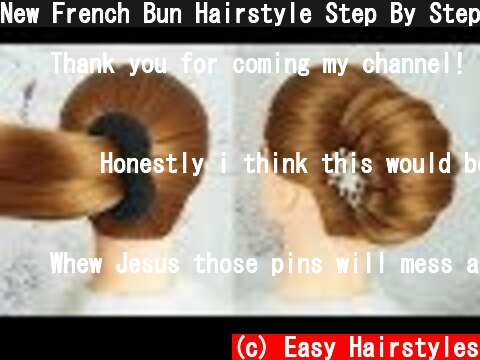 New French Bun Hairstyle Step By Step - French Roll Hairstyle With Clutcher | Braid Hairstyles 2019  (c) Easy Hairstyles