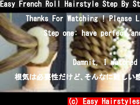 Easy French Roll Hairstyle Step By Step | French Bun Hairstyles For New Year 2020  (c) Easy Hairstyles
