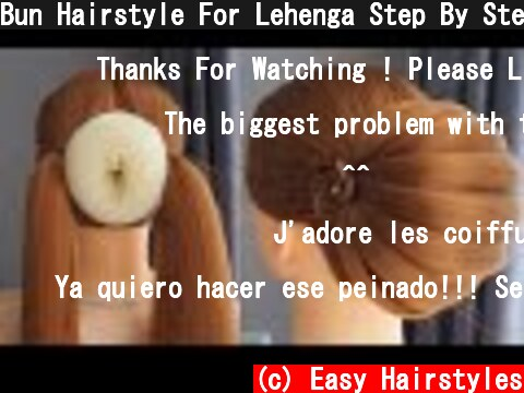 Bun Hairstyle For Lehenga Step By Step - Easy Hairstyles But Pretty | Wedding Hairstyles And Party  (c) Easy Hairstyles