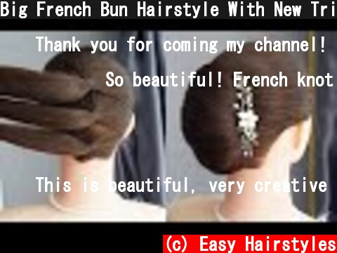Big French Bun Hairstyle With New Trick - Simple French Roll Hairstyle Step By Step | Easy Hairstyle  (c) Easy Hairstyles
