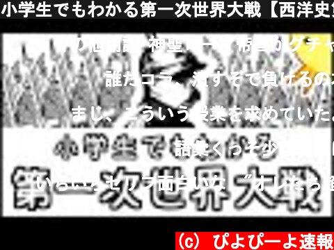 小学生でもわかる第一次世界大戦【西洋史第6弾】  (c) ぴよぴーよ速報