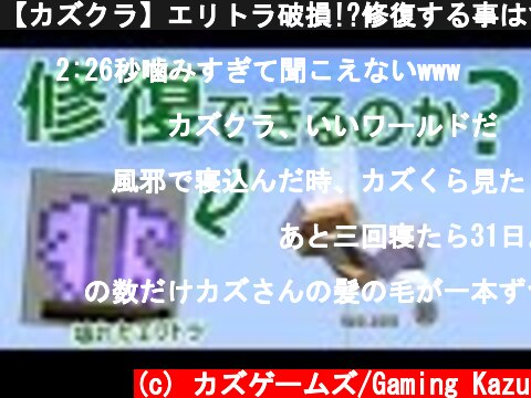 【カズクラ】エリトラ破損!?修復する事はできるのか!マイクラ実況 PART647  (c) カズゲームズ/Gaming Kazu