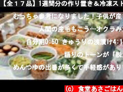 【全17品】1週間分の作り置き&冷凍ストックをひたすら作る【管理栄養士の簡単レシピ】  (c) 食堂あさごはん