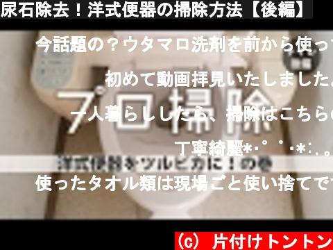 尿石除去!洋式便器の掃除方法【後編】  (c) 片付けトントン