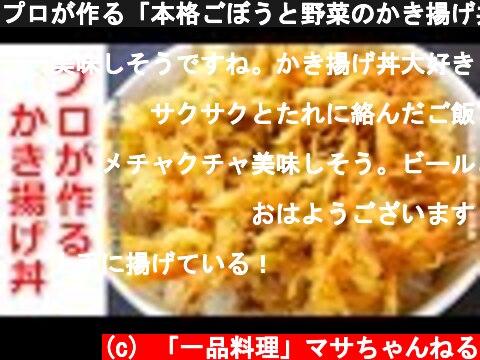 プロが作る「本格ごぼうと野菜のかき揚げ丼!」タレと衣がサクッとするコツと作り方も解説  (c) 「一品料理」マサちゃんねる