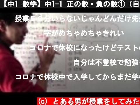 【中1 数学】中1-1 正の数・負の数①(自然数・整数)  (c) とある男が授業をしてみた