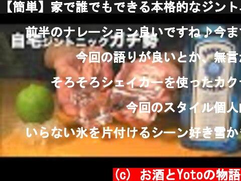 【簡単】家で誰でもできる本格的なジントニックの作り方。  (c) お酒とYotoの物語